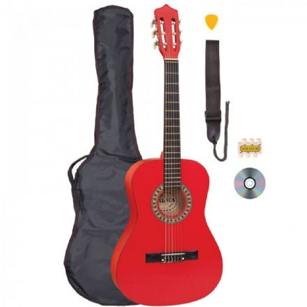 Palma 3/4 Nylon String Guitar Pack Red